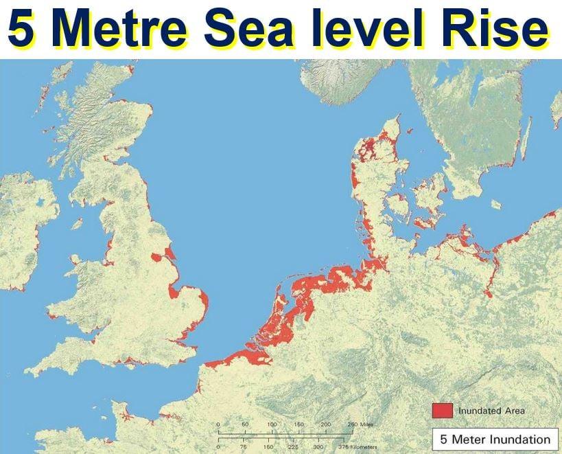 5 metre sea level rise