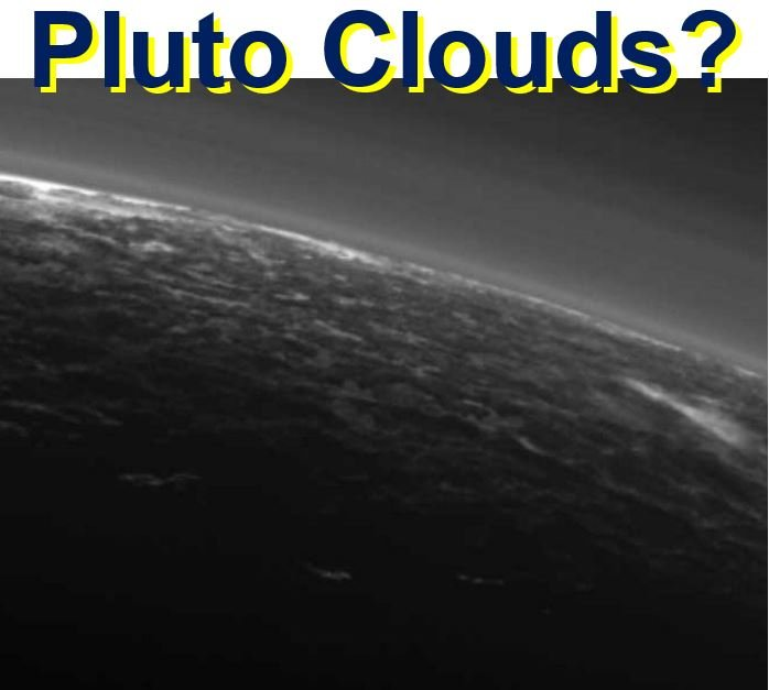 Clouds on Pluto detected