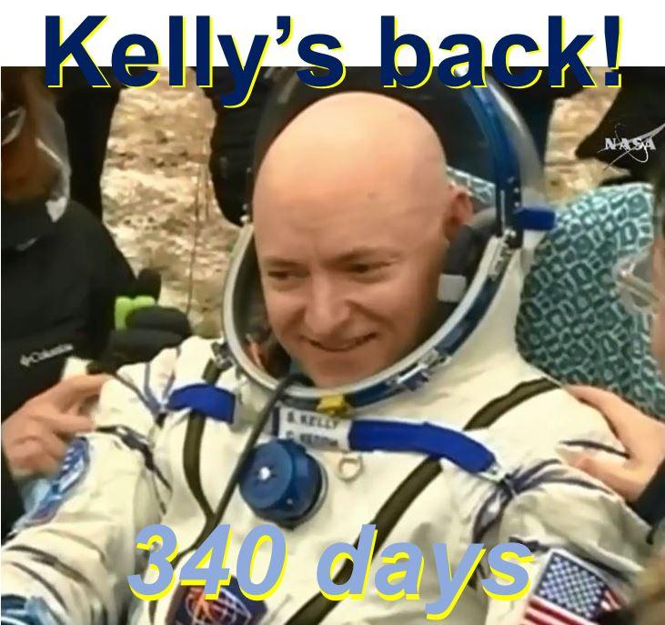 Scott Kelly back on Earth