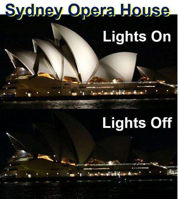 Sydney Opera House Earth Hour
