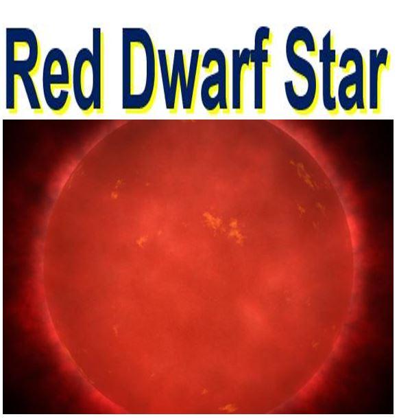 A red dwarf star