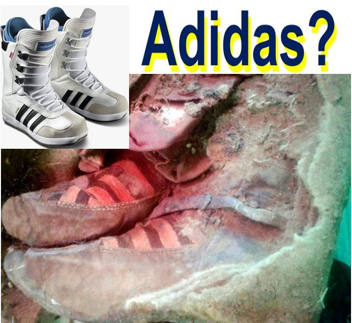 Adidas boots found with ancient mummy