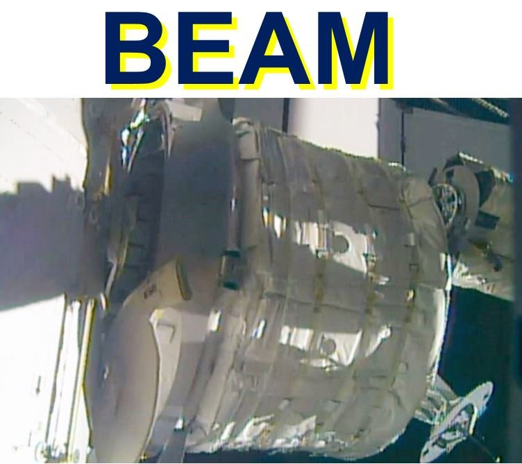 BEAM expandable space room attached to ISS