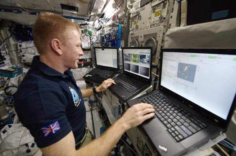 Tim Peake controlling from space