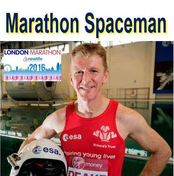 Time Peake London Marathon spaceman