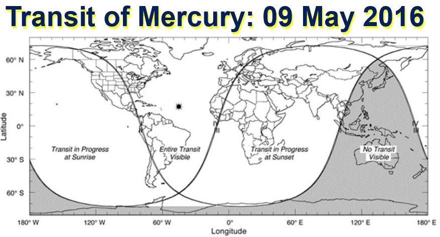 Transit of Mercury 9 May 2016