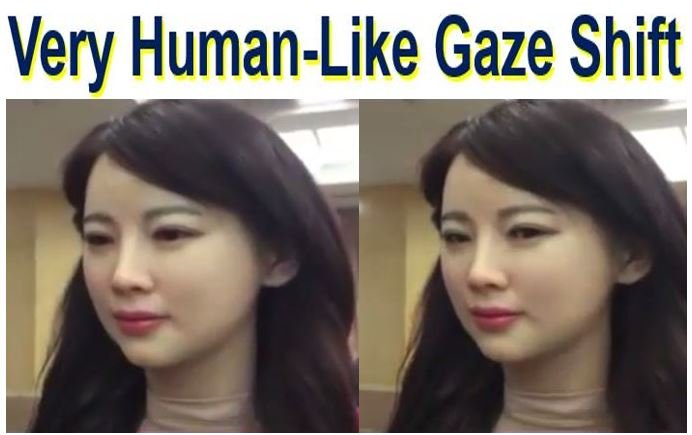 Very human like gaze shift