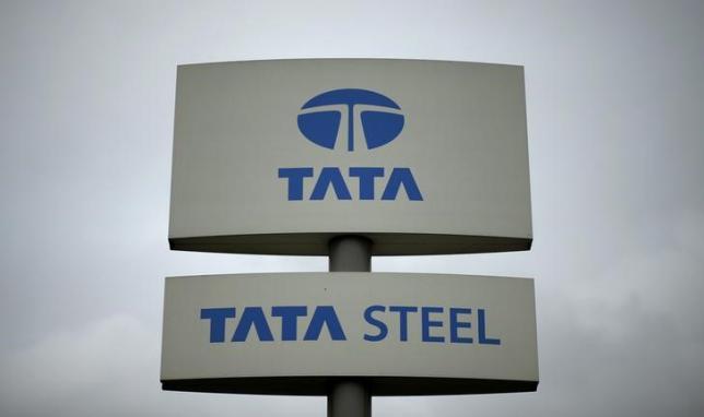 A Tata Steel sign