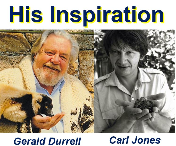 Gerald Durrell and Carl Jones