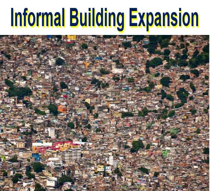 Informal Building expansion shanty town