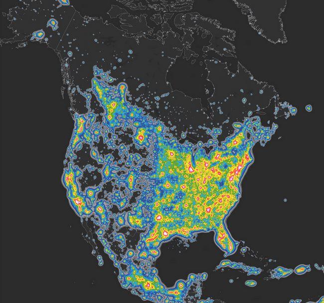 North America Night Brightness