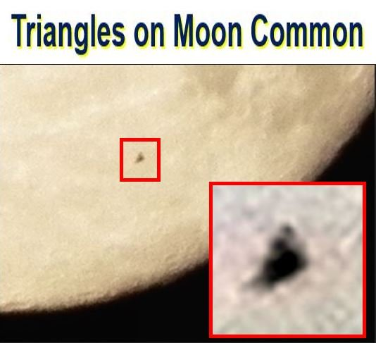 Triangular UFOs on moon are common