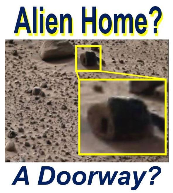 Alien home doorway on Mars