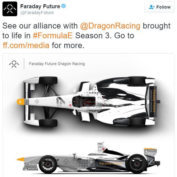 Faraday Future and Dragon Racing