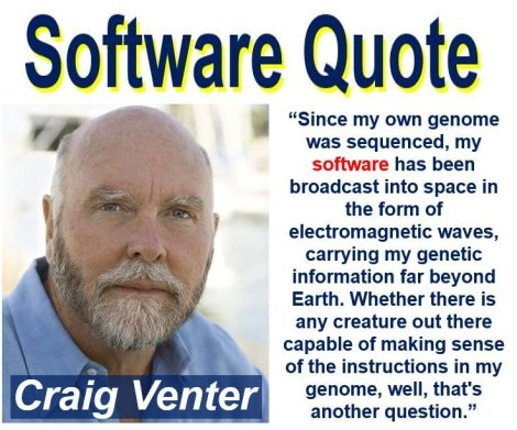 Craig Venter software quote