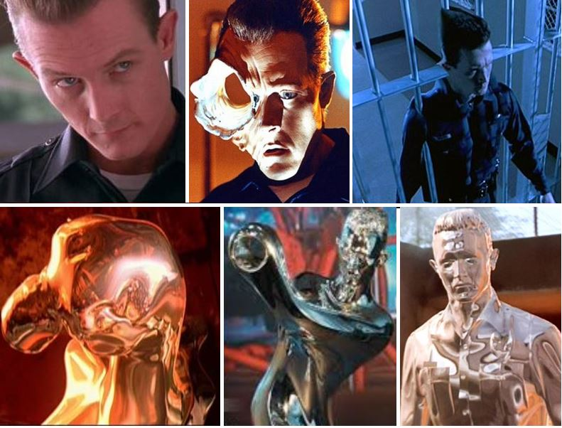 Liquid metal man in Terminator 2