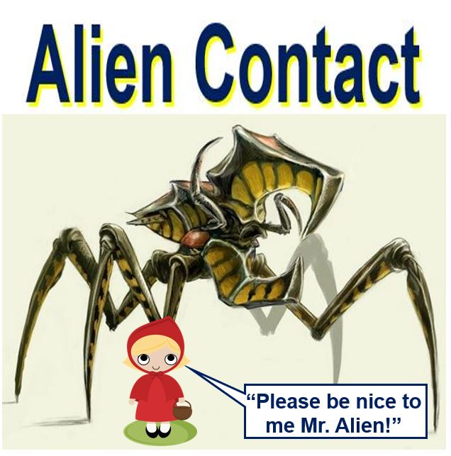 Alien contact with human being