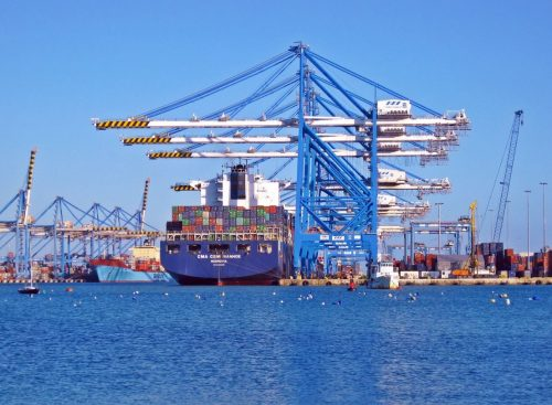 shipping industry container ship