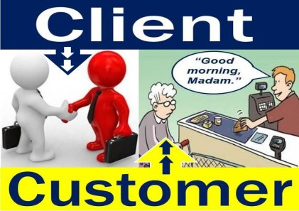 Client and customer are often different