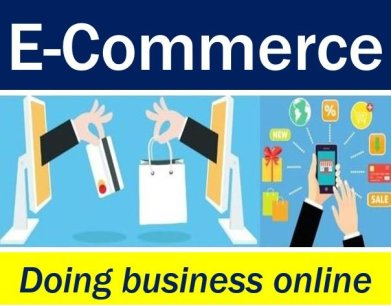 E-commerce - doing business online image