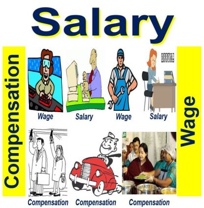 Salary, wage and compensation