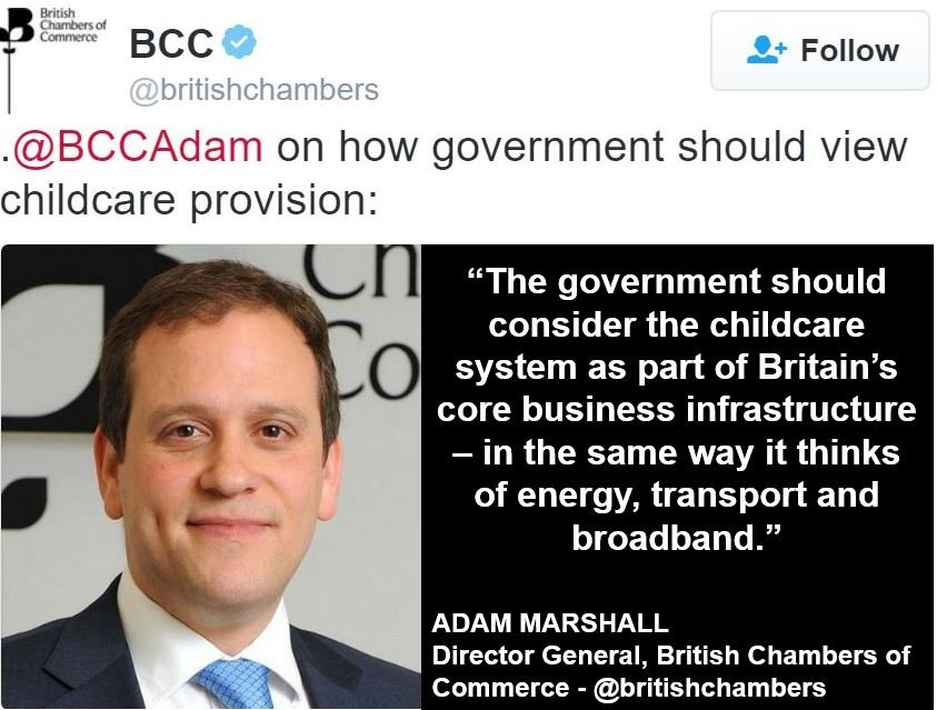 Childcare costs British Chambers of Commerce opinion