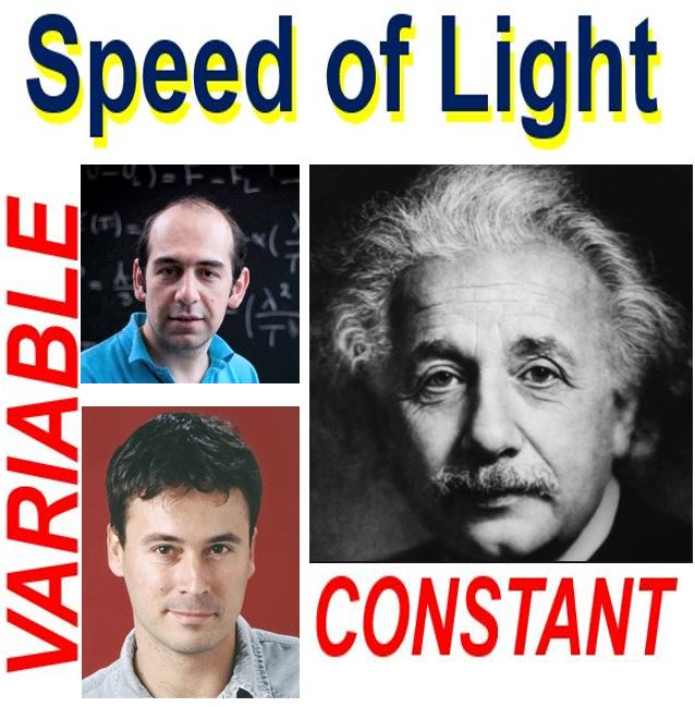 Speed of light constant or variable?