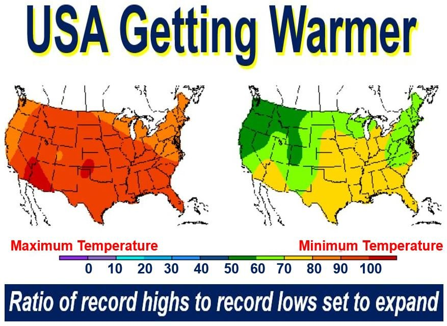 US Maps: days of record-breaking heat becoming more common