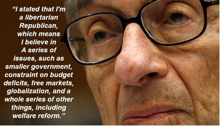 Alan Greenspan welfare quote