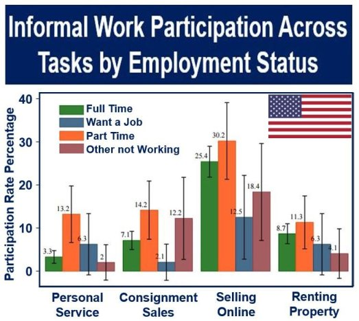 USA: Informal Sector work participation across tasks
