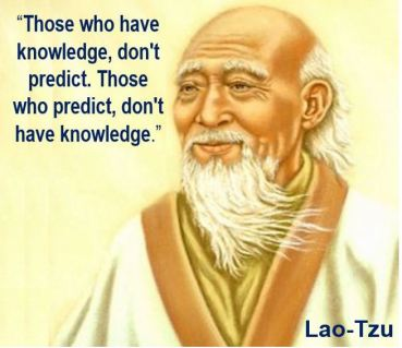 Lao-Tzu forecasting quote