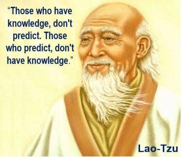 Lao-Tzu forecasting quote