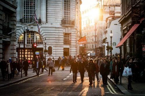 London urban street scene