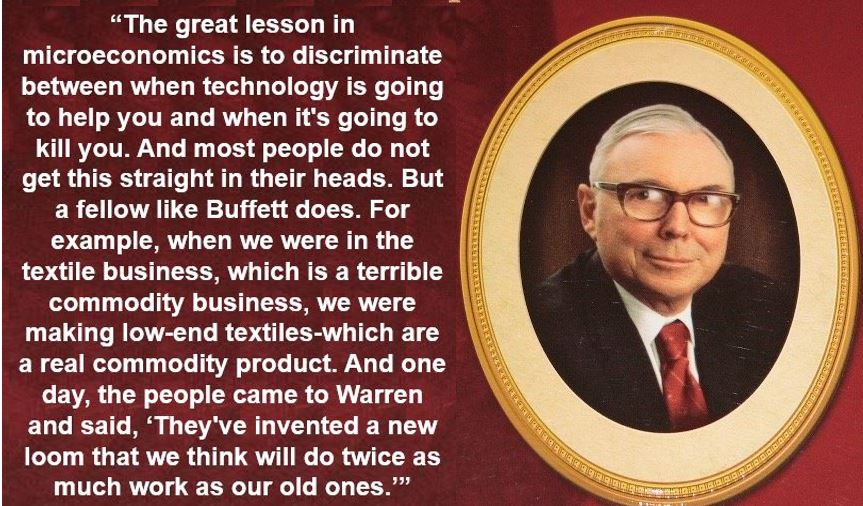 Charlie Munger - Microeconomics quote