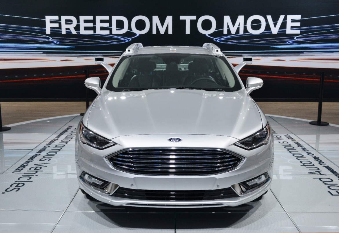 Ford Fusion Hybrid autonomous development vehicle
