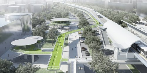 elevated cycleway Xiamen