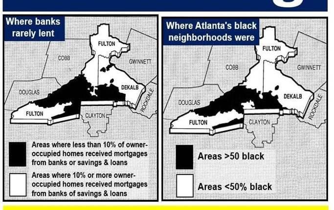Redlining in Atlanta 1980s