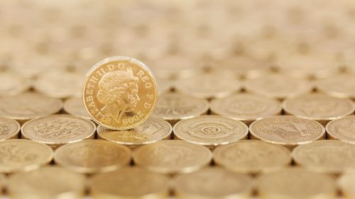 UK tax burden pound coins