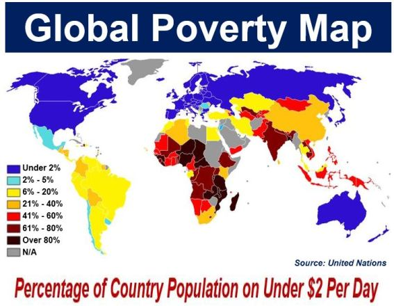 United Nations Global Poverty Map 2009