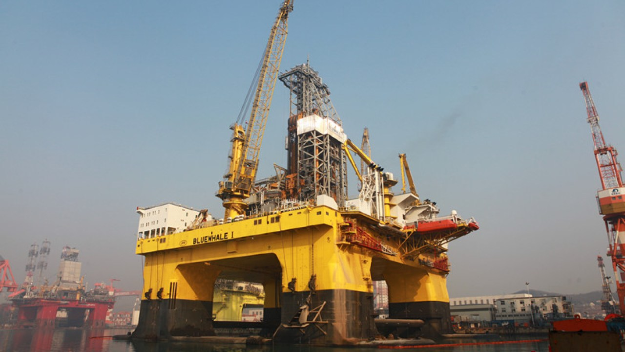China launches world's biggest offshore oil exploration platform