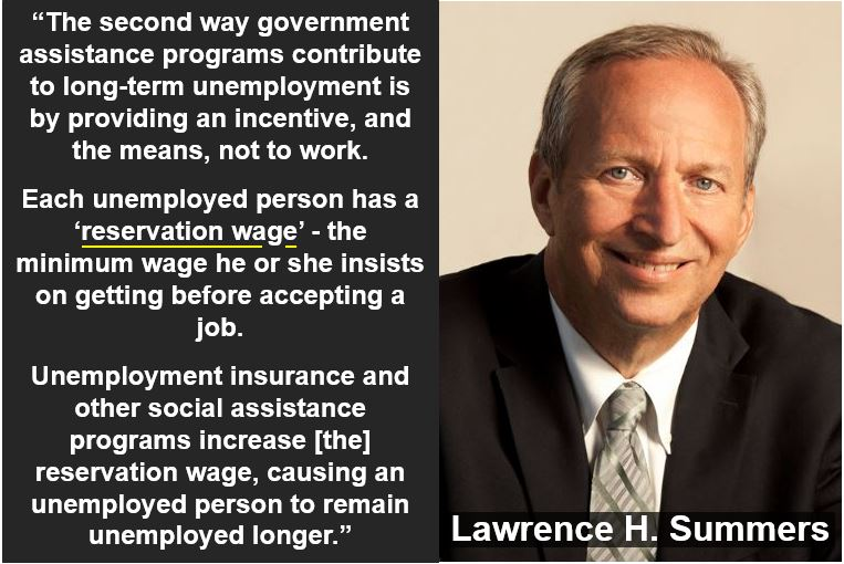 Lawrence Summers - reservation wage quote