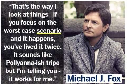 Michael J Fox scenario quote