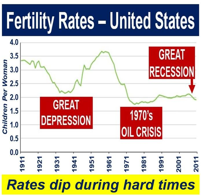 Replacement rate - US fertility rates