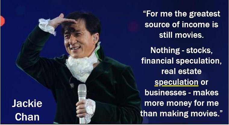 Jackie Chan - speculation quote