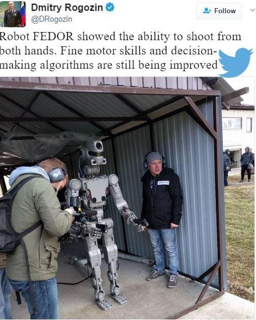 Russian Robot - tweet by Dmitry Rogozin
