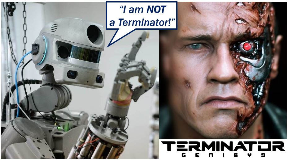 Russian robot says it is no a Terminator