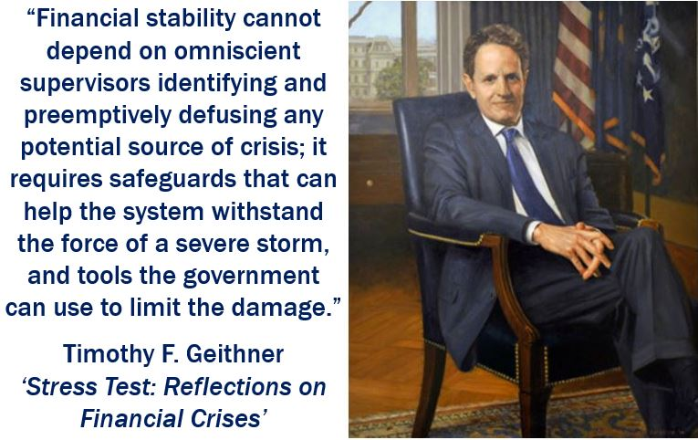 Timothy Geithner - Stress testing quote