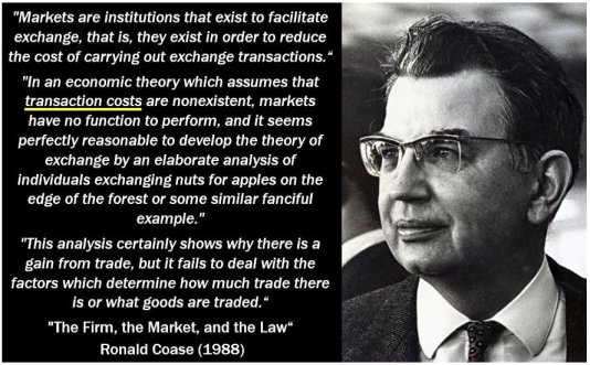 Transaction costs quote - Ronald Coase