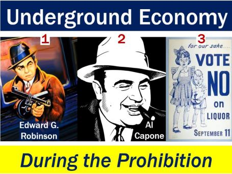 Underground economy during the prohibition