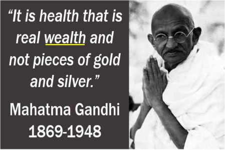 Wealth quote - Mahatma Gandhi